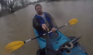 Rider on The Storm Kayaker Todd Hendrickson Petaluma Flood