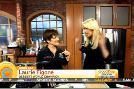 Laurie Figone World Dessert Champion and TV Chef on Good Day Sacremento
