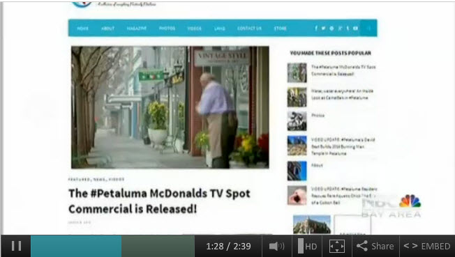 Is Any Publicity Good Publicity for #Petaluma? McDonalds Commercial Revisited