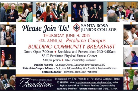 SRJC building community breakfast
