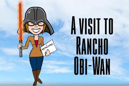 Colleen Rustad Focus on Petaluma CA Steve Sansweet Rancho Obi Wan Star Wars Museum